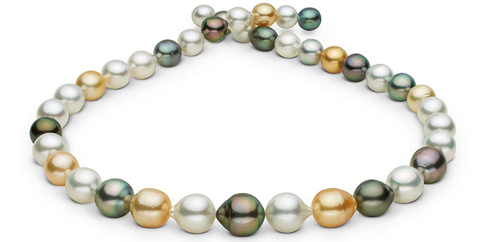 Multi-Color Tahitian and South Sea Pearl Necklace