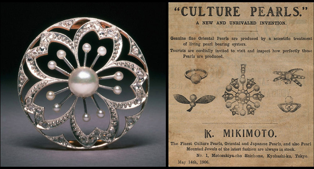 Mikimoto Pearl Vintage Advertisement from 1906
