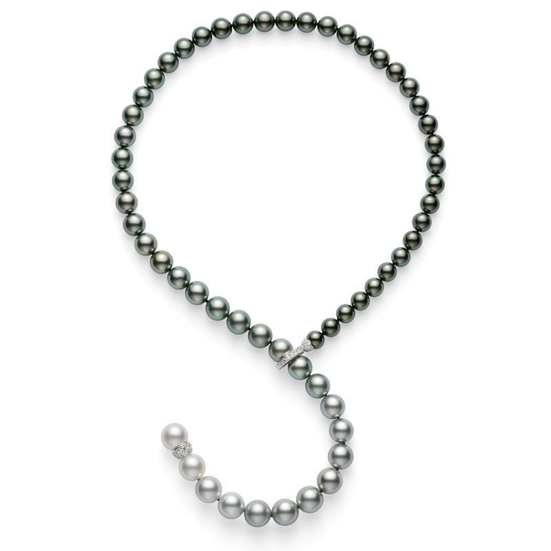 Mikimoto Tahitian and South Sea Pearl Necklace