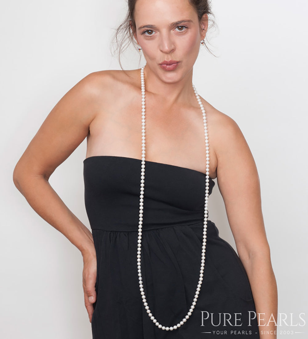 Pearl Rope Style Guide - 6 Ways to Wear a Pearl Rope