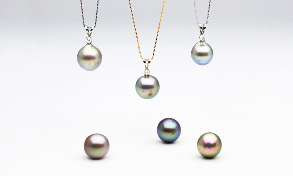 Round and Semi-Baroque Sea of Cortez Pearl Pendants