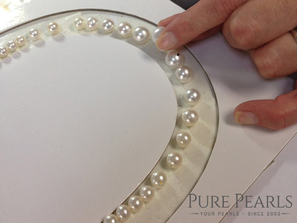 Marking Pearls Drilling