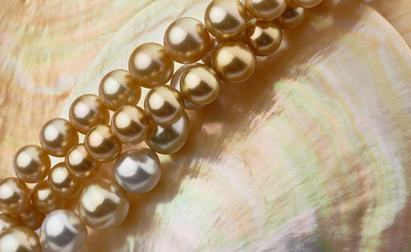 Rare Pearl Colors Gold Pearls