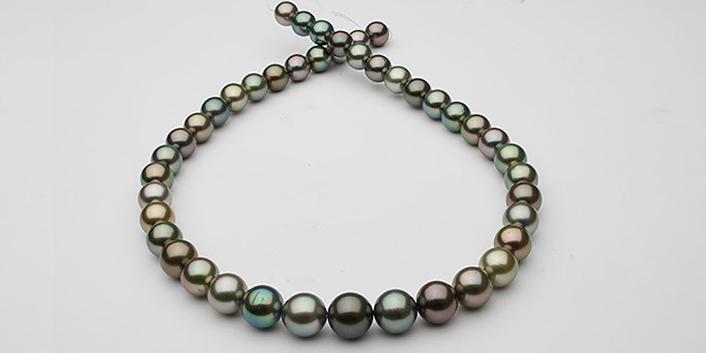 Tahitian Pearl Necklace Layout Intermediate AA+/AAA Quality Grade