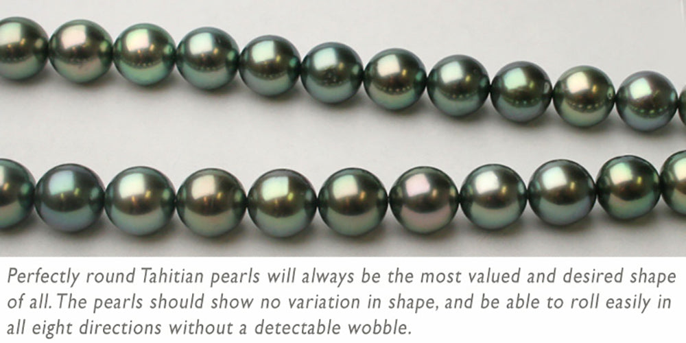 Round Tahitian Pearl Necklaces