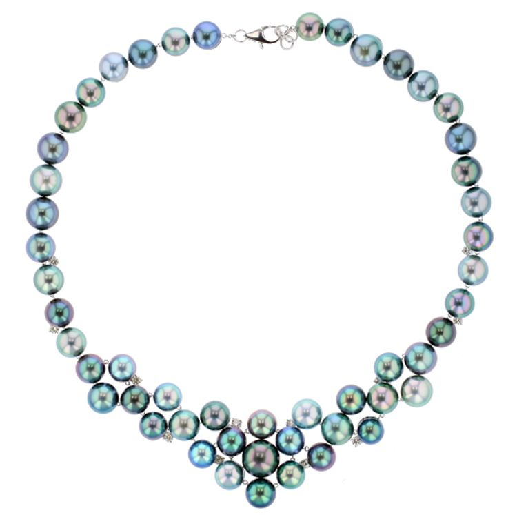 """""""Privilège Collection"""" One of a Kind Tahitian Pearl and Diamond Necklace"""