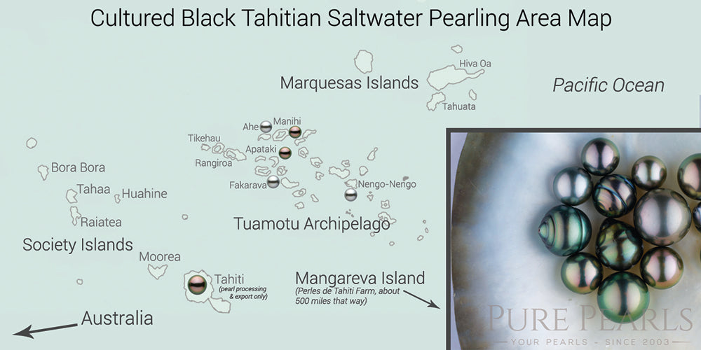 Tahitian Pearl Farm Areas Map