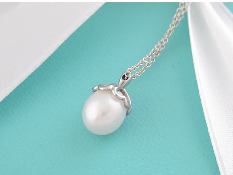 Freshwater Pearl Pendant Sterling Silver Tiffany