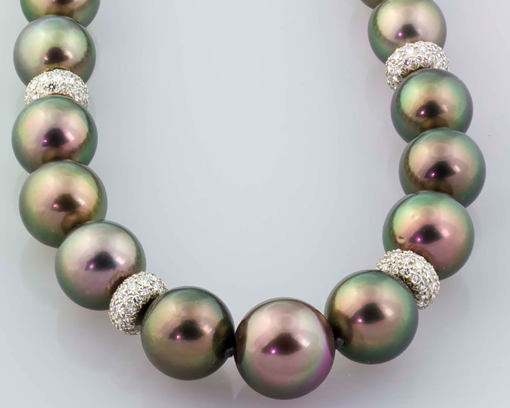 Tahitian Pearl and Diamond Necklace by Tiffany