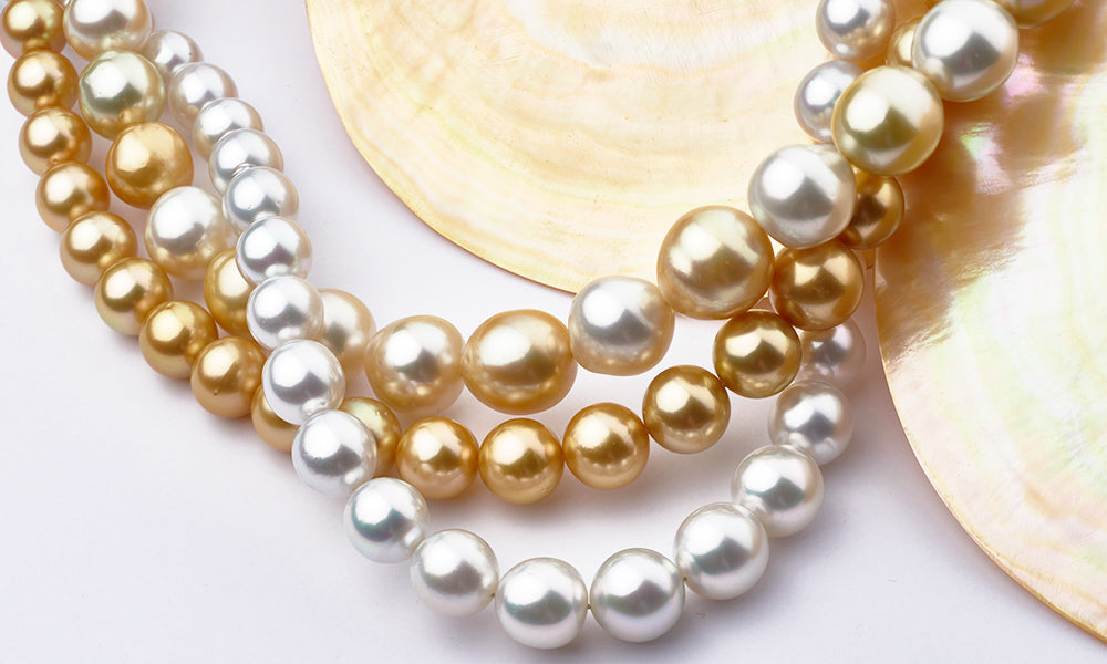 South Sea Pearl Necklaces Glamour Shot