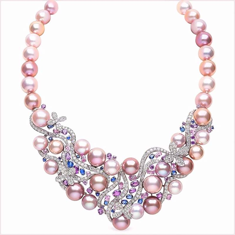 Yoko London Freshwater Pearl and Sapphire Necklace
