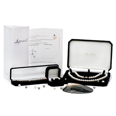 Signature 'Little Black Gift Box', Pearl Care Instructions and GIA Graduate Prepared Retail Appraisal