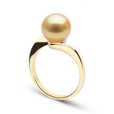 Golden South Sea Pearl Serenity Solitaire Ring