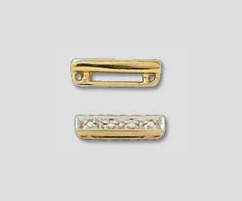Special Order - Diamond Bar Spacers, 14K Gold