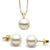 White Freshwater Classic Pendant and Earring Set, Sizes 8.0-10.0mm