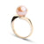 Gem Quality Pink Freshwater Pearl Serenity Solitaire Ring, Sizes: 10.0-11.0mm