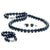 Black Akoya Pearl 3-Piece Jewelry Set, 6.0-6.5mm