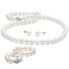White Elite Collection 3-Piece Pearl Set, 6.5-7.0mm, 14K White Gold