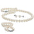 White Freshwater Pearl 3-Piece Jewelry Set, 6.5-7.0mm