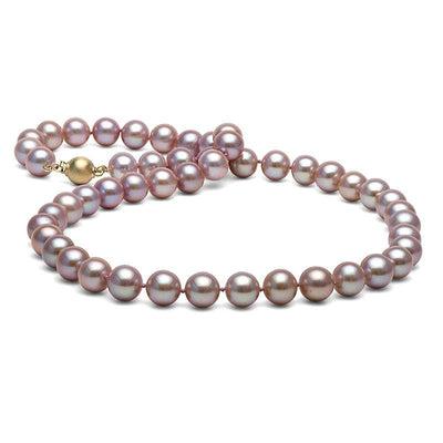 Lavender Elite Collection Pearl Necklace, 8.5-9.0mm