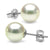 Untreated, Natural Color White Hanadama Akoya Pearl Earrings, 8.5-9.0mm