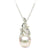 White Akoya Pearl and Diamond Aurora Pendant, 7.5-8.0mm