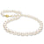 Free Form Baroque White Akoya Pearl Necklace, 8.5-9.0mm