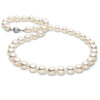 Free Form Baroque White Akoya Pearl Necklace, 8.5-9.0mm, 14K White Gold Matte Finish Shown