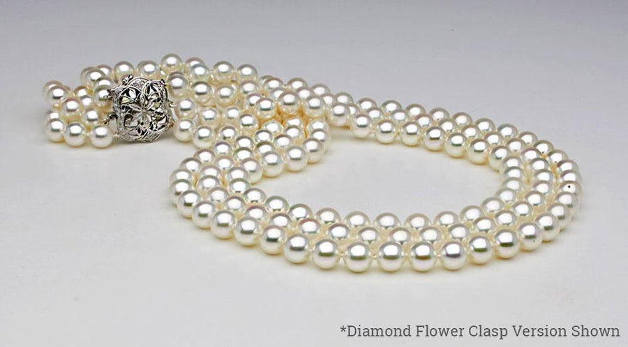 5f946ef733232 Triple Strand Pearl Necklaces | FREE Shipping & Returns - Pure Pearls