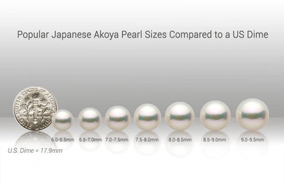 Blue Akoya Pearl Stud Earrings, 7.0-7.5mm