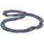 Black Freshwater Pearl Rope, Choose: 35 or 52-Inches, 7.5-8.0mm