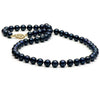 Black Akoya Pearl Necklace, 6.0-6.5mm, 14K Yellow Gold
