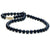 Black Akoya Pearl Necklace, 6.0-6.5mm