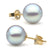 Blue Akoya Pearl Stud Earrings, 8.5-9.0mm