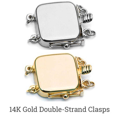 Choose white or yellow 14kt gold