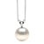 White Elite Collection Freshwater Pearl Solitaire Pendant, 10.5-11.0mm