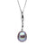 Metallic Lavender Freshwater Drop-Shape Pearl Icicle Pendant, 11.0-12.0mm