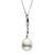 Metallic White Freshwater Drop-Shape Pearl Icicle Pendant, 10.0-11.0mm