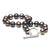 Black Freshwater Pearl Toggle Bracelet, 6.5-7.0mm