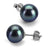 Black Freshwater Pearl Earrings, 8.5-9.0mm