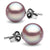 Elite Collection Lavender Freshwater Pearl Stud Earrings, 10.0-10.5mm