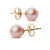Elite Collection Pink to Peach Freshwater Pearl Stud Earrings, 6.5-7.0mm