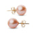 Elite Collection Pink to Peach Freshwater Pearl Stud Earrings, 8.5-9.0mm