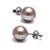 Lavender Freshwater Pearl Earrings, 7.5-8.0mm
