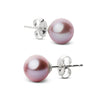 Elite Collection Lavender Freshwater Pearl Stud Earrings, 6.5-7.0mm, 14K White Gold