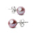 Elite Collection Lavender Freshwater Pearl Stud Earrings, 6.5-7.0mm