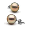 Metallic Lavender Freshwater Pearl Stud Earrings, Sizes 8.0-10.0mm, 14K White Gold