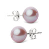 Elite Collection Lavender Freshwater Pearl Stud Earrings, 8.5-9.0mm, 14K Yellow Gold