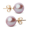 Elite Collection Lavender Freshwater Pearl Stud Earrings, 8.5-9.0mm, 14K White Gold