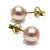 Pink Freshwater Pearl Earrings, 6.5-7.0mm